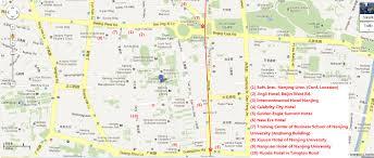 Nanjing China Map by Njumap English Jpg