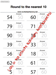 rounding worksheets worksheet factory