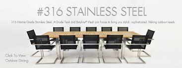 Teak Stainless Steel Outdoor Furniture by Teak And Steel Outdoor Furniture Outdoor Designs