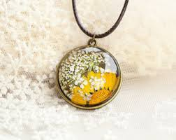 flower necklace etsy images Pressed flower necklace etsy jpg