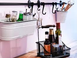 Ikea Hanging Kitchen Storage | amazon com ikea steel kitchen organizer set 22 5 inch rail 5
