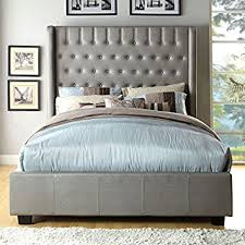 amazon com mira contemporary silver tone eastern king size bed