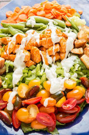 buffalo chicken salad with blue cheese dressing oh sweet basil