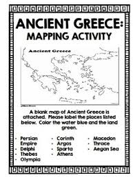 blank map of ancient greece ancient greece notebook by creative classroom tpt