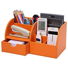 Office Desk Tidy Eastlion Office Desk Organiser Pu Leather Storage Box Home Desk