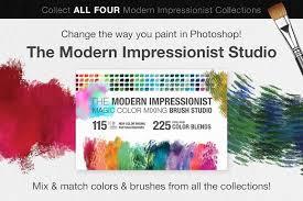impressionist masters color blends brushes creative market