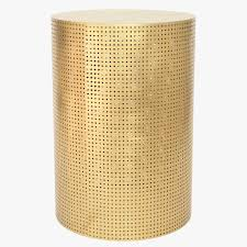 Brass Side Table Perforated Brass Side Table U2013 Anyon Design And Atelier