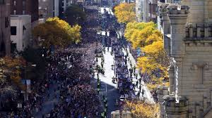 Giants Parade Route Map by Chicago Cubs Fans Pack City To Celebrate World Series Title With