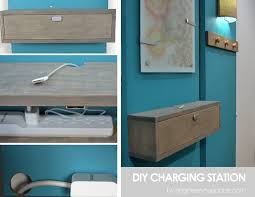 diy wood charging station diy charging station shelf combo smart diy solutions for renters