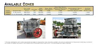 cone crushers r r equipment company