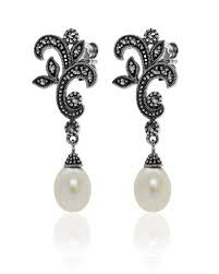 pearl chandelier earrings pearl chandelier earring larus