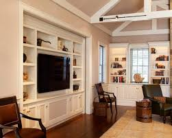 Living Room Cabinets Built In by Tv Built In Cabinet Ideas With Comely White Wooden Built In Tv