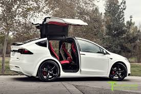 white porsche red interior pearl white tesla model x custom bentley red interior