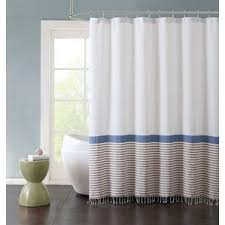 Black And White Vertical Striped Shower Curtain Brown Shower Curtains You U0027ll Love Wayfair