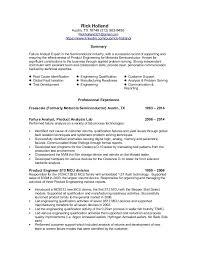 Failure Analysis Engineer Resume Rick Holland Resume