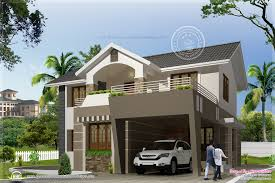 2050 sqfeet modern exterior home kerala home design and floor