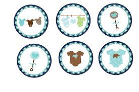 baby shower cupcake toppers template baby shower diy