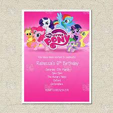 my little pony child u0027s cards u0026 stationery for invitations ebay