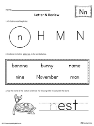 learning the letter n worksheet myteachingstation com