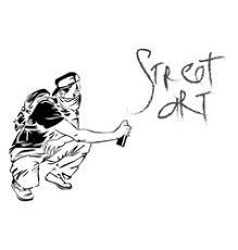graffiti guy makes street art on wall royalty free vector
