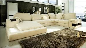 canapé d angle de luxe canapé angle en cuir vachette blanc