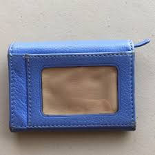 michael kors light blue wallet michael kors light blue card case wallet tradesy