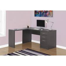 grey desk with drawers contemporary corner desk grey desks workstations best buy canada