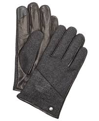 ugg mens gloves sale calvin klein s mixed media knit gloves hats macy s