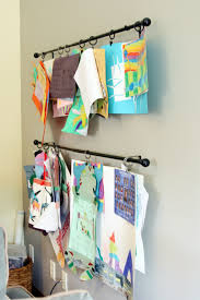 Easy Way To Hang Curtains Decorating Here Are Some Creative Ways To Display Your Kid U0027s Art Curtain
