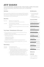 Resume Examples For College Students Engineering by Civil Engineer Resume Samples Visualcv Resume Samples Database