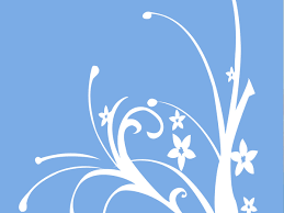 free simple blue floral drawing backgrounds for powerpoint