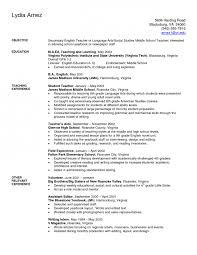 First Year Teacher Resume Examples Hospital Volunteer Resume Example Http Www Resumecareer Info