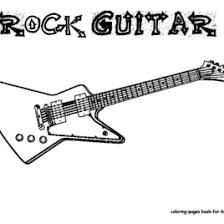 rock guitar coloring kids drawing coloring pages marisa