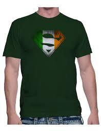 Flag Of Ireland Ireland Flag In Superman Shield T Shirt Tee U2022 Irish Dc