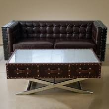Airplane Wing Coffee Table industrial riveted metal coffee table industrial riveted metal