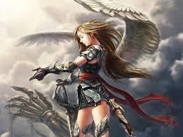 angels anime girls artwork orcs walldevil
