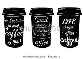 elegant paper coffee cup design takeaway stock vector 475728499