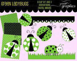 green lady bug clip art ladybug digital clip art digital paper