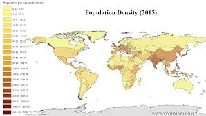 Canada Population Density Map by Population Density 2015 Population Pinterest