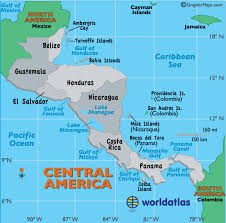 america map with rivers central america map map of central america countries landforms