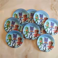 135pcs pj masks theme disposable tableware sets tablecloth cups
