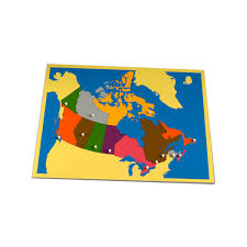 map of canada puzzle montessori outlet puzzle map of canada spectrum educational