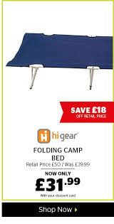 Hi Gear Folding C Bed Go Outdoors 20 Selected Furniture Now On Milled