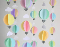 air balloon decorations set of 3 choose your colours