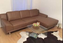 echtleder sofa echtleder sofa in cappuccino braun l form ledersofa 1a