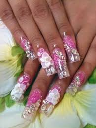 acrylic with one stroke flower nails pinterest diff u0027rent