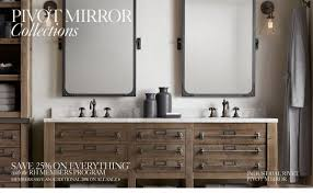 Pivot Bathroom Mirror Bathroom Accessories Mirrors Signature Hardware Intended For