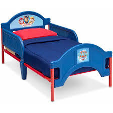 Paw Patrol Room Decor Paw Patrol Toddler Bed With Room Accessories Walmart Com