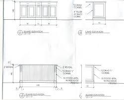kitchen remodel typical height depth base kitchen cabinet l