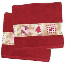christmas tree bath towel set of 2 home